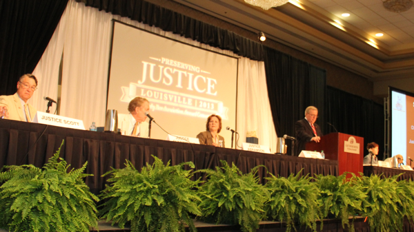 Supreme Court of Kentucky Justices at Rules Hearing at Kentucky Bar Association Convention 2013