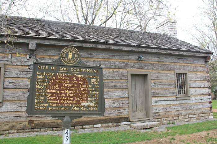 Log Court House in Boyle County, Danville. Photo by Mike Stevens.
