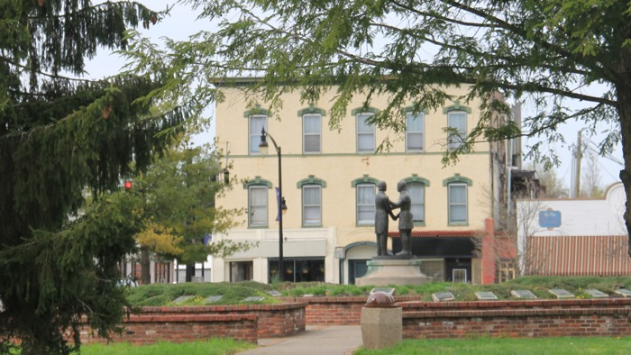 """A View of """"Constitution Square"""" in Danville, Virginia.  Whom do you think these two gentlemen are?"""
