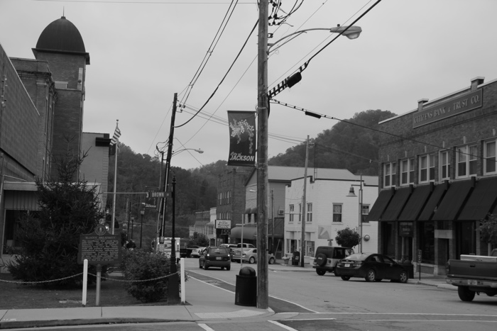 Breathitt County.  Downtown Jackson (named after President Andrew Jackson).  Photo by MIke Stevens.