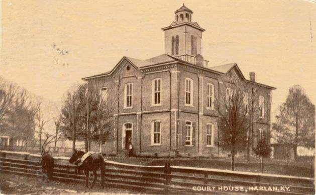 Harlan County Court House, 1886. Photo from old postcard captured by Keith Vincent.  These and others can be found at his web site for all 50 states!  www.CourtHouseHistory.com