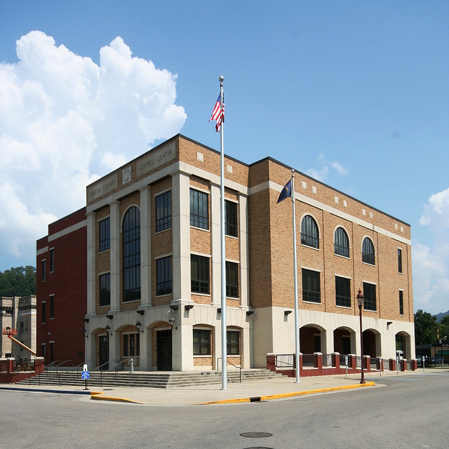 "Harlan County Justice Center, Harlan, Kentucky.  Photo from flickr by ""OZinOH"", a retired librarian who now lives in Australia who takes reallly good photos"