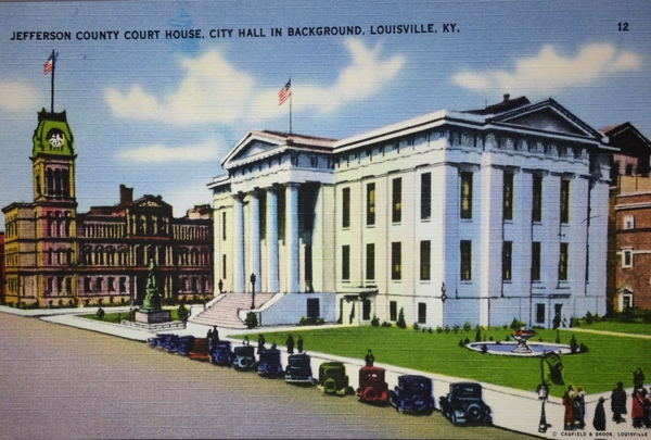 Post Card of Jefferson County Court House.  Louisville, Kentucky.