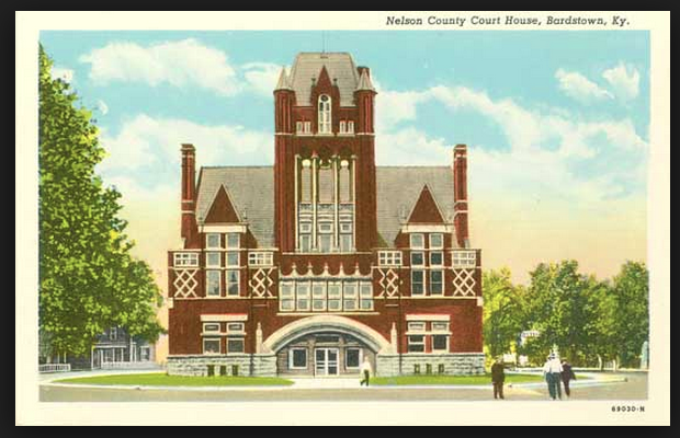 Nelson County Courthouse Penny Postcard