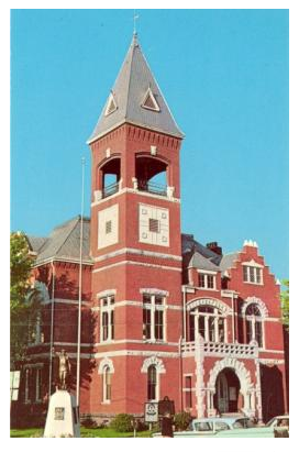 Casey County Court House, Liberty, Kentucky. Built 1887. Color image courtesy of Keith Vincent, www.CourtHouseHistory.com.