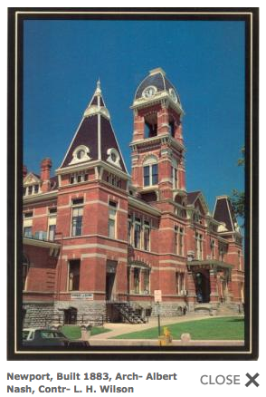 Campbell County Courthouse, Newport, Kentucky. Image courtesy of Keith Vincent, www.courthousehistory.com
