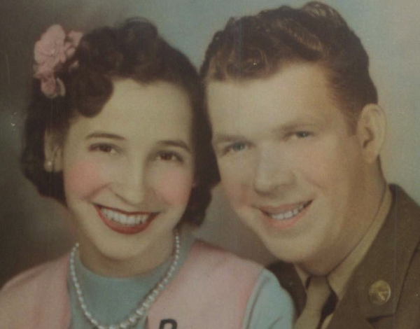 One of my favorite veterans - my dad, Theodore R. Stevens, in a picture with mom. Dad served in World War II, was a tanker with Patton. Picture was taken way before I was even a gleam. Not a day goes by that I do not think of both of them, but I know they are watching over all of us with my other favorite veterans, my brother Teddy (aka Theodore Roosevelt Stevens, II) and my father in law, Pappy (aka Morris Cox, Sr.).